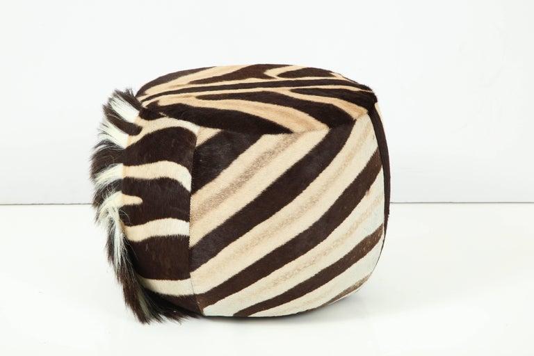Beautiful zebra ottoman.