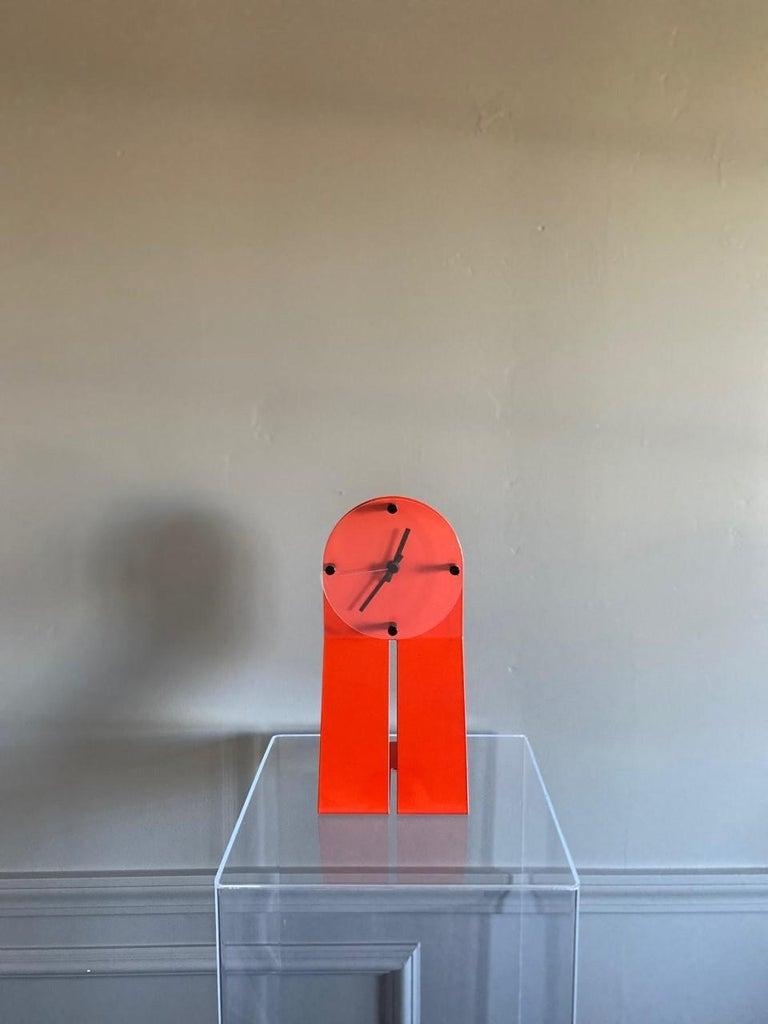 "Vintage Zig Metal Clock by Seccose ""Clocky Clock"" For Sale 1"