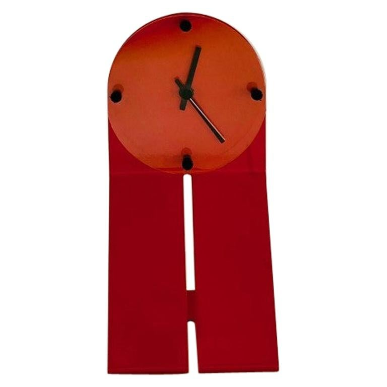 "Vintage Zig Metal Clock by Seccose ""Clocky Clock"" For Sale"