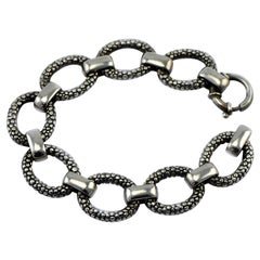 Vintage Zina of Beverly Hills Sterling Silver Heavy Link Bracelet