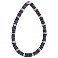 Vintage Zulu Beaded Collar Necklace, South Africa, Early 20th Century