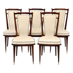 Vinyl French Modernist Dining Chairs