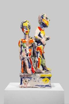 """""""Figure Study H"""", 1996, Figurative Expression, Ceramic Sculpture"""