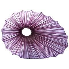 Handmade Smoke Pleated Silk Viola Table Lamp