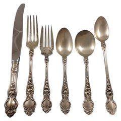 Violet by Wallace Sterling Silver Flatware Set for Eight Service 52 Pcs