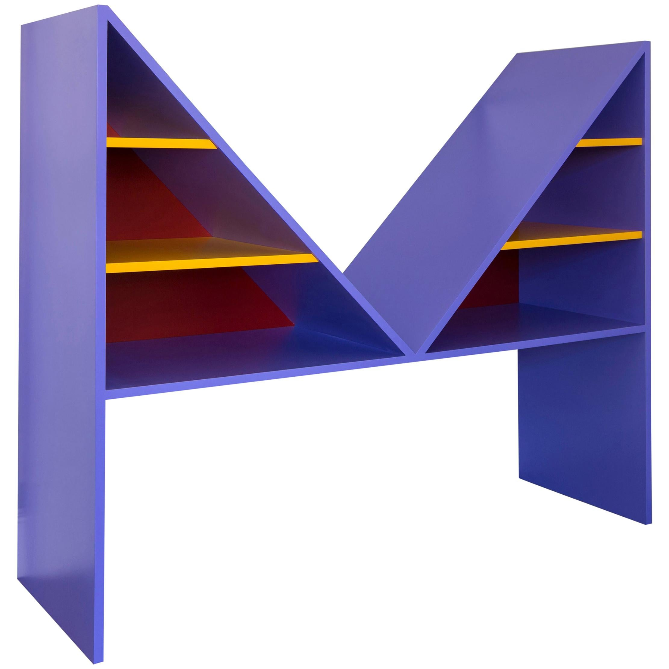 Violet Lacquered Wood Bikini Bookcase by Chapel Petrassi