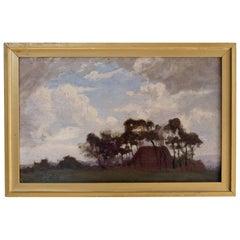 Violet Maud Biddulph Oil Painting, British Post-Impressionist, Gilt Frame, Art