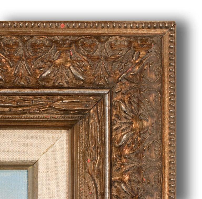 Large 4.5-Foot Framed Oil on Canvas Realist Seascape by Violet Parkhurst For Sale 6