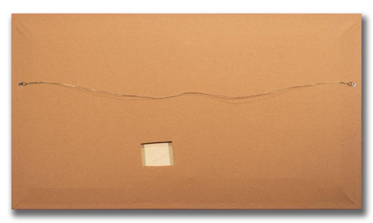 Large 4.5-Foot Framed Oil on Canvas Realist Seascape by Violet Parkhurst For Sale 7