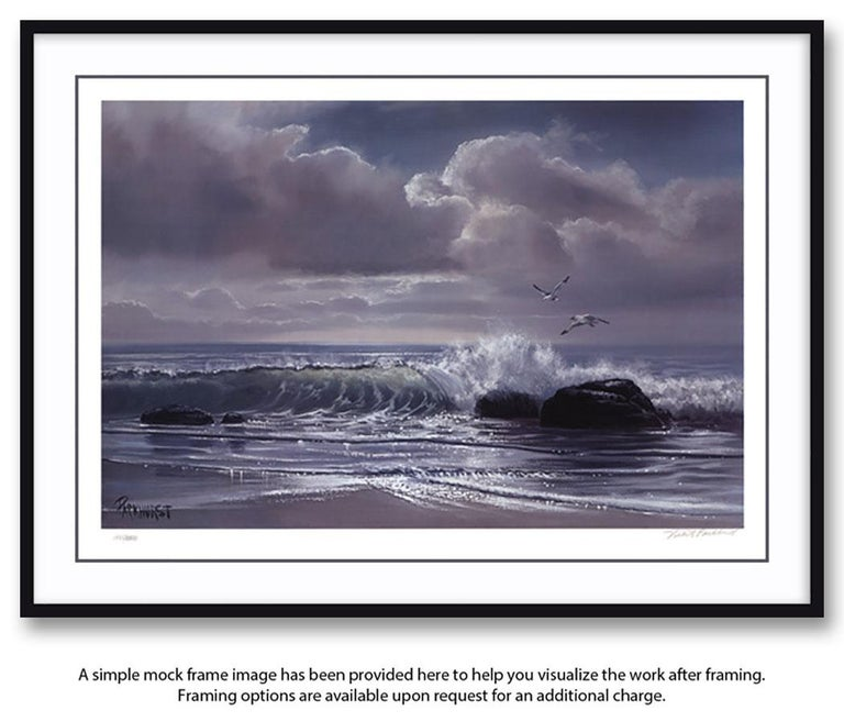 """Moonflight"" Limited Edition Hand-Signed Seascape by Violet Parkhurst For Sale 1"