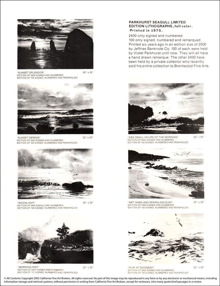 """Moonflight"" Limited Edition Hand-Signed Seascape by Violet Parkhurst For Sale 4"