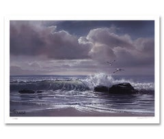"""Moonflight"" Limited Edition Hand-Signed Seascape by Violet Parkhurst"