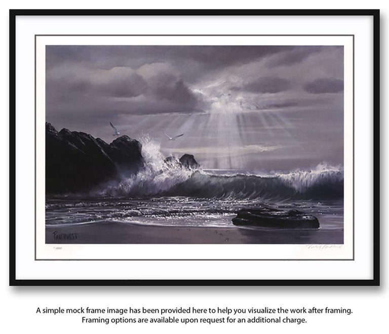"""""""Wee Small Hours..."""" Limited Edition Hand-Signed Seascape by Violet Parkhurst For Sale 1"""