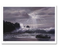 """Wee Small Hours..."" Limited Edition Hand-Signed Seascape by Violet Parkhurst"