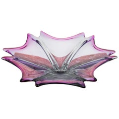 Violet Platter, Czech Glass, 1970s
