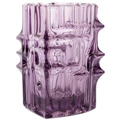 Violet Vase by Vladislav Urban for Sklo Union, 20th Century, Europe, 1960s
