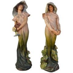 """""""Violets"""" Art Nouveau Statuette by Luigi Vergnano, circa 1900"""