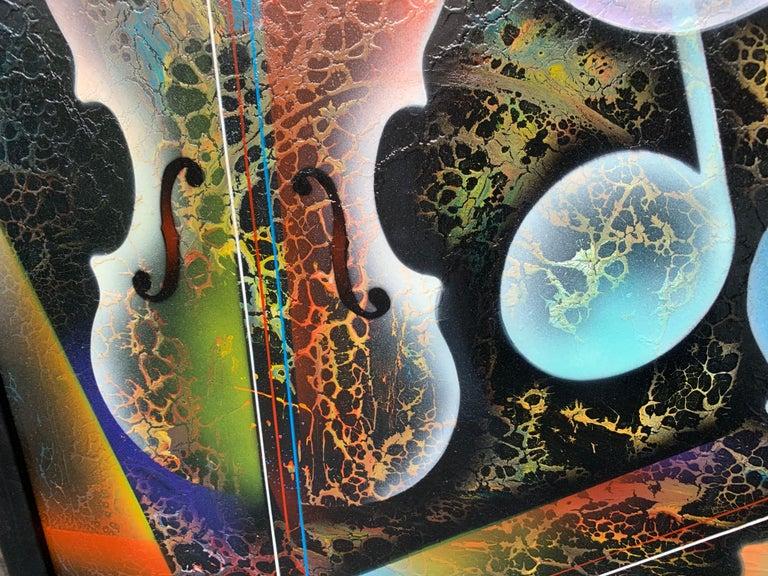 Violin Painting by Artist Nierman For Sale 1