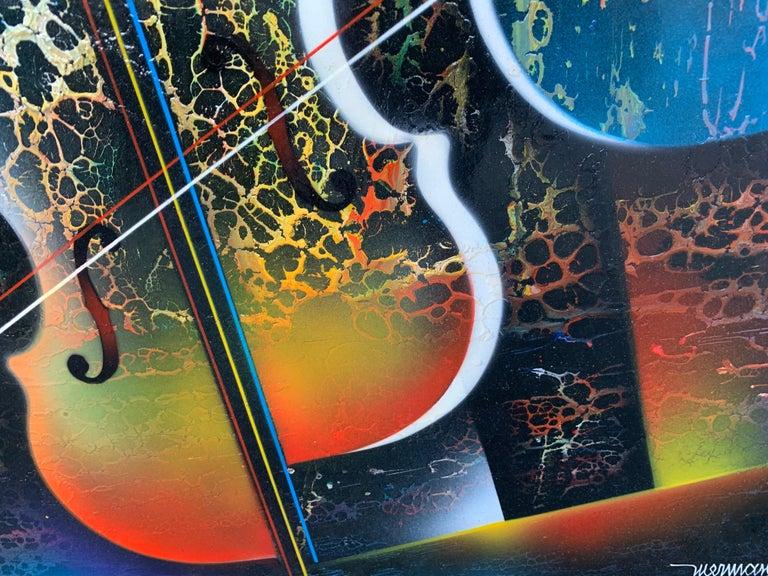Violin Painting by Artist Nierman For Sale 2