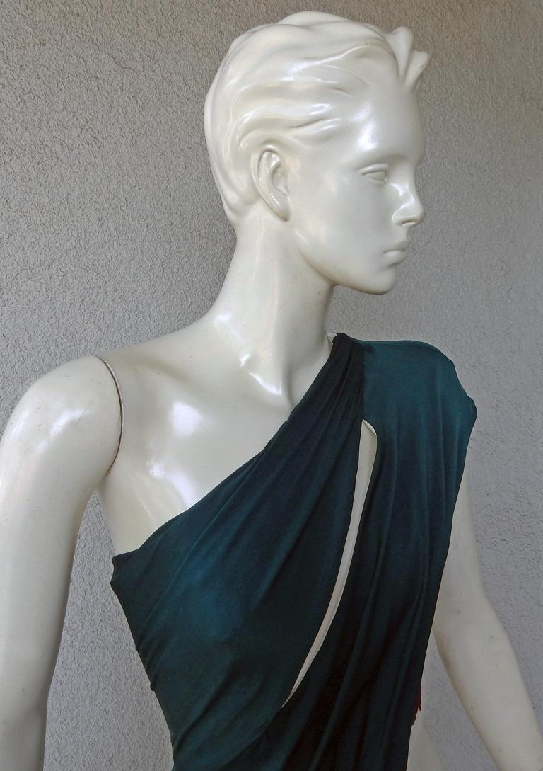 Gray Vionnet of Paris Exquisite Goddess Beaded Silk Gown Dress  NWT For Sale