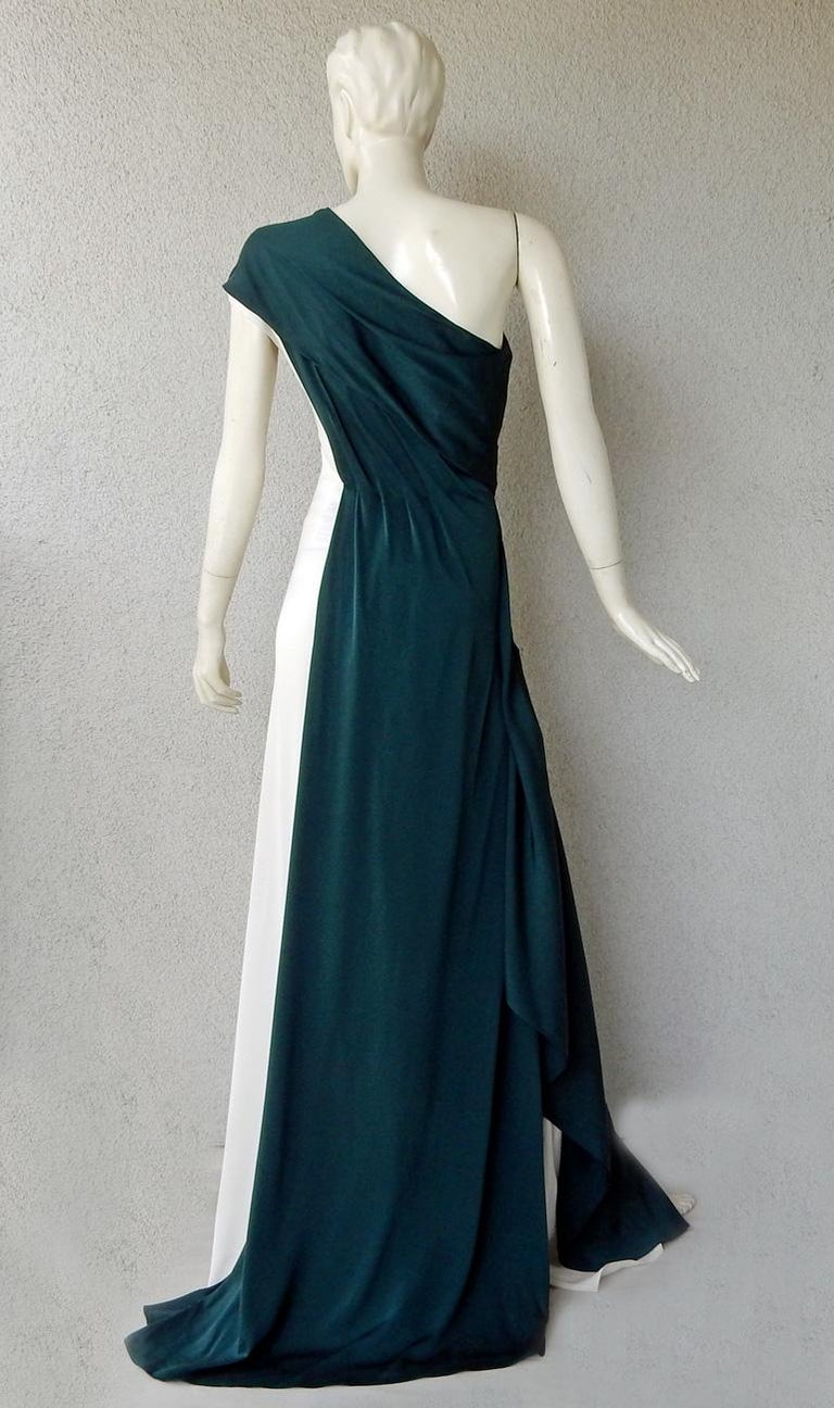Women's Vionnet of Paris Exquisite Goddess Beaded Silk Gown Dress  NWT For Sale