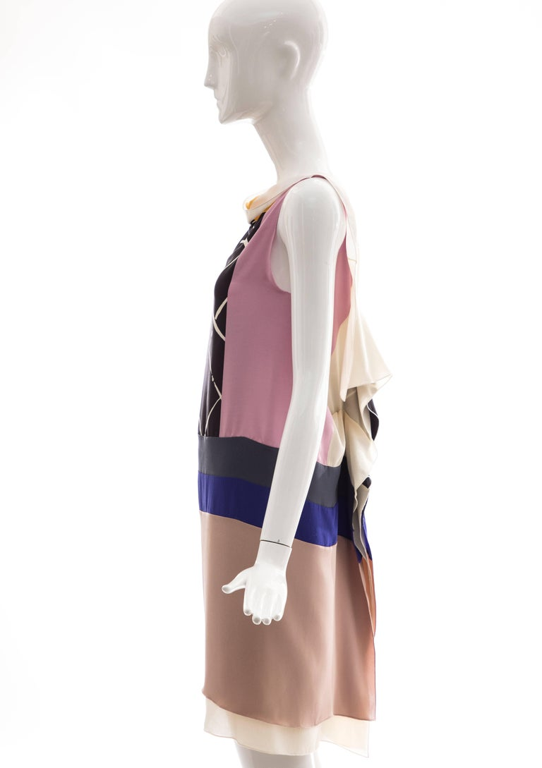 Vionnet Runway Silk Printed Sleeveless Sheath Dress, Spring 2010 For Sale 5