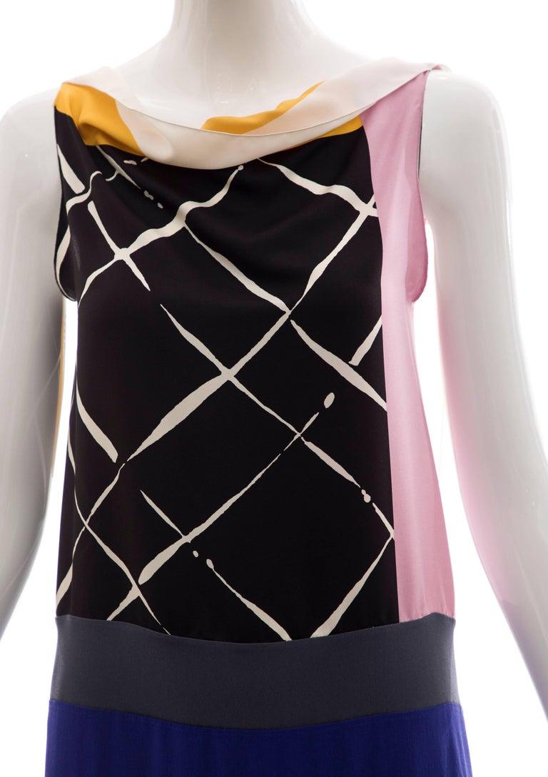 Vionnet Runway Silk Printed Sleeveless Sheath Dress, Spring 2010 For Sale 1