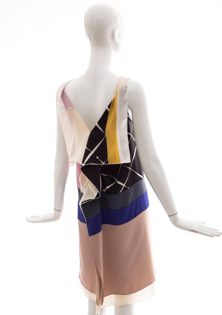 Vionnet Runway Silk Printed Sleeveless Sheath Dress, Spring 2010 For Sale 2