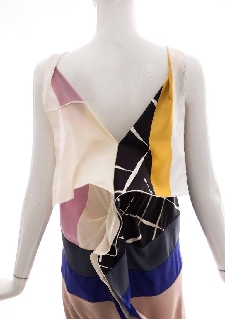 Vionnet Runway Silk Printed Sleeveless Sheath Dress, Spring 2010 For Sale 3