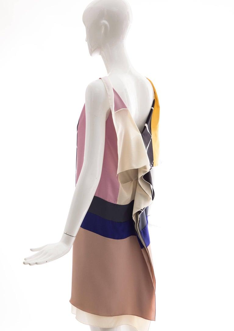 Vionnet Runway Silk Printed Sleeveless Sheath Dress, Spring 2010 For Sale 4