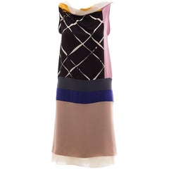 Vionnet Runway Silk Printed Sleeveless Sheath Dress, Spring 2010