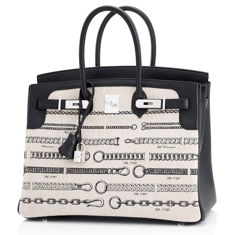 Hermes VIP 35 De Camp Dechainee Toile Swift Chevre Limited Edition Birkin Bag In New Condition For Sale In New York, NY
