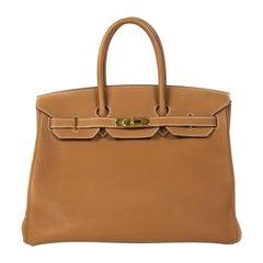 VIP Hermès Birkin 35 Verso Gold / Geranium Togo GHW