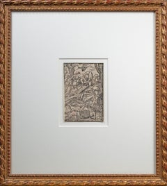 'Christ Nailed to the Cross' Renaissance woodcut by Virgil Solis after Dürer