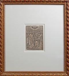 'Descent of the Holy Spirit (Pentecost)' woodcut by Virgil Solis after Dürer
