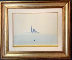 """""""La marina di San Giorgio""""Venice,  Landscape,Italy cm.40 x 30 Oil 1973"""