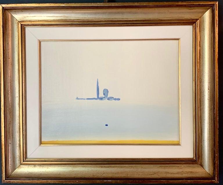 """Virgilio Guidi Landscape Painting - """"La marina di San Giorgio""""Venice,  Landscape,Italy cm.40 x 30 Oil 1973"""