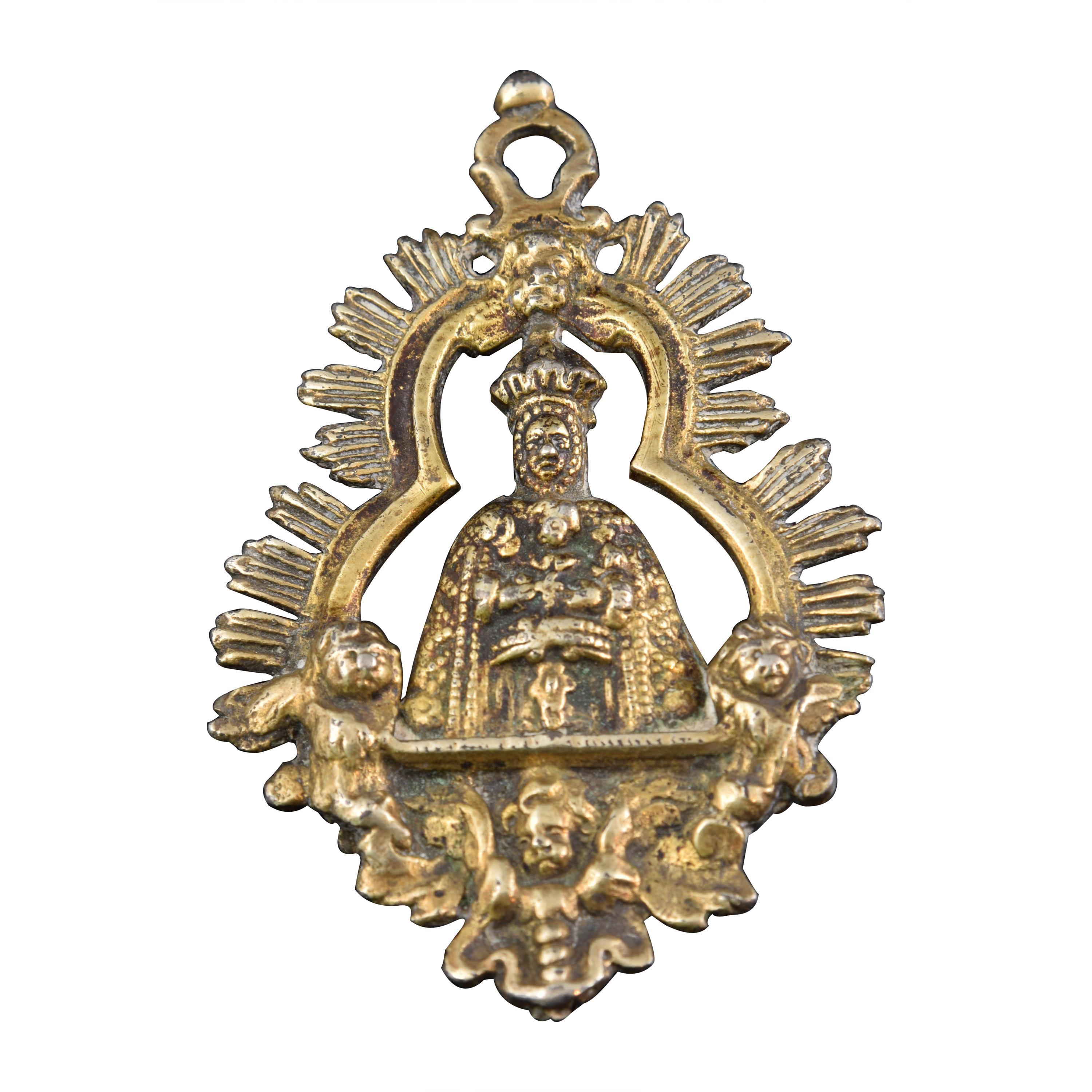 Virgin with Child, Devotional Medal or Pendant. Spain, 18th Century