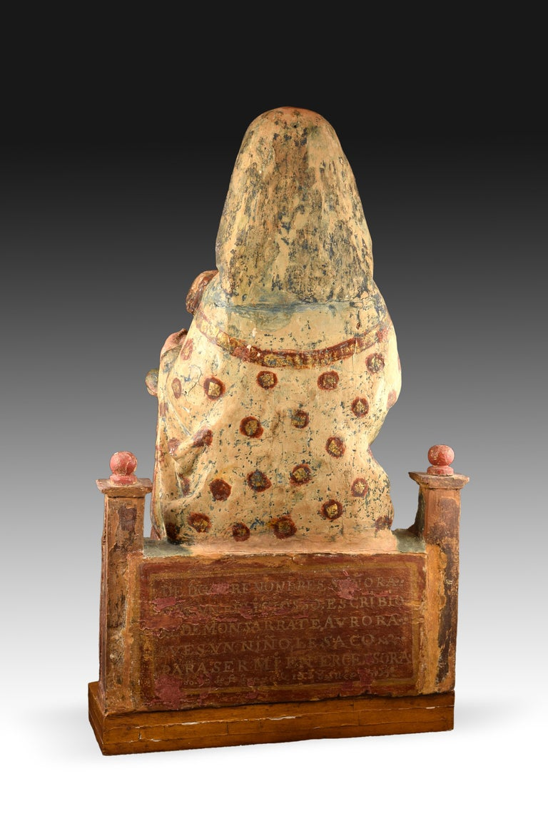 Virgin with Child, Polychrome Wood, Spain, circa End 15th Century In Good Condition For Sale In Madrid, ES