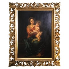 Virgin with Christ Child Oil Painting after Bartholome Esteban Murillo