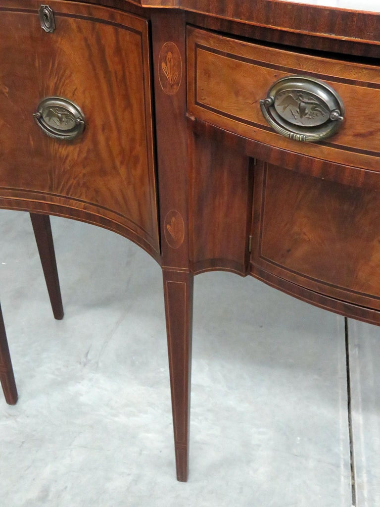 20th Century Virginia Craftsman Inlaid Sideboard For Sale