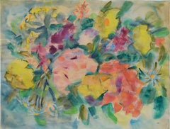 Mid Century Modern Multicolor Abstract Flowers