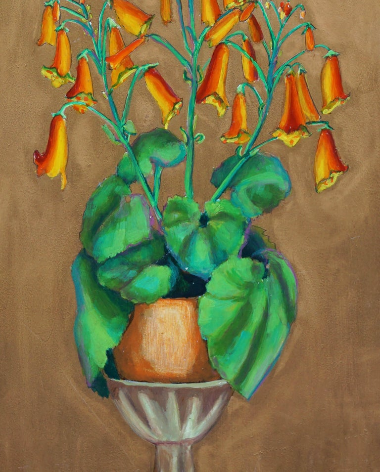Mid Century Primose Still Life - Realist Painting by Virginia Sevier Rogers