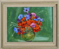 Red and Blue Bouquet Interior Painting