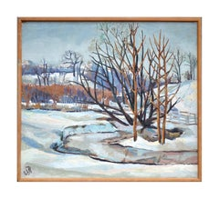 Winter in High Valley - Snowy Midcentury Landscape