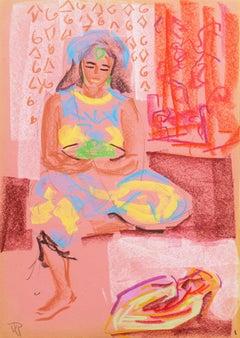 'Woman Seated', Post Impressionist, Fauve, Carmel, California woman artist, PAFA