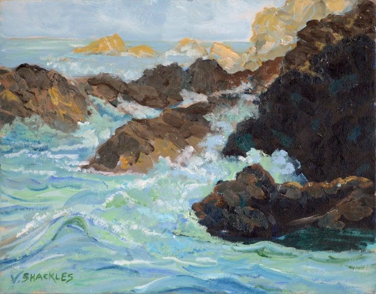 Virginia Shackles Landscape Painting - Big Sur Coast Seascape