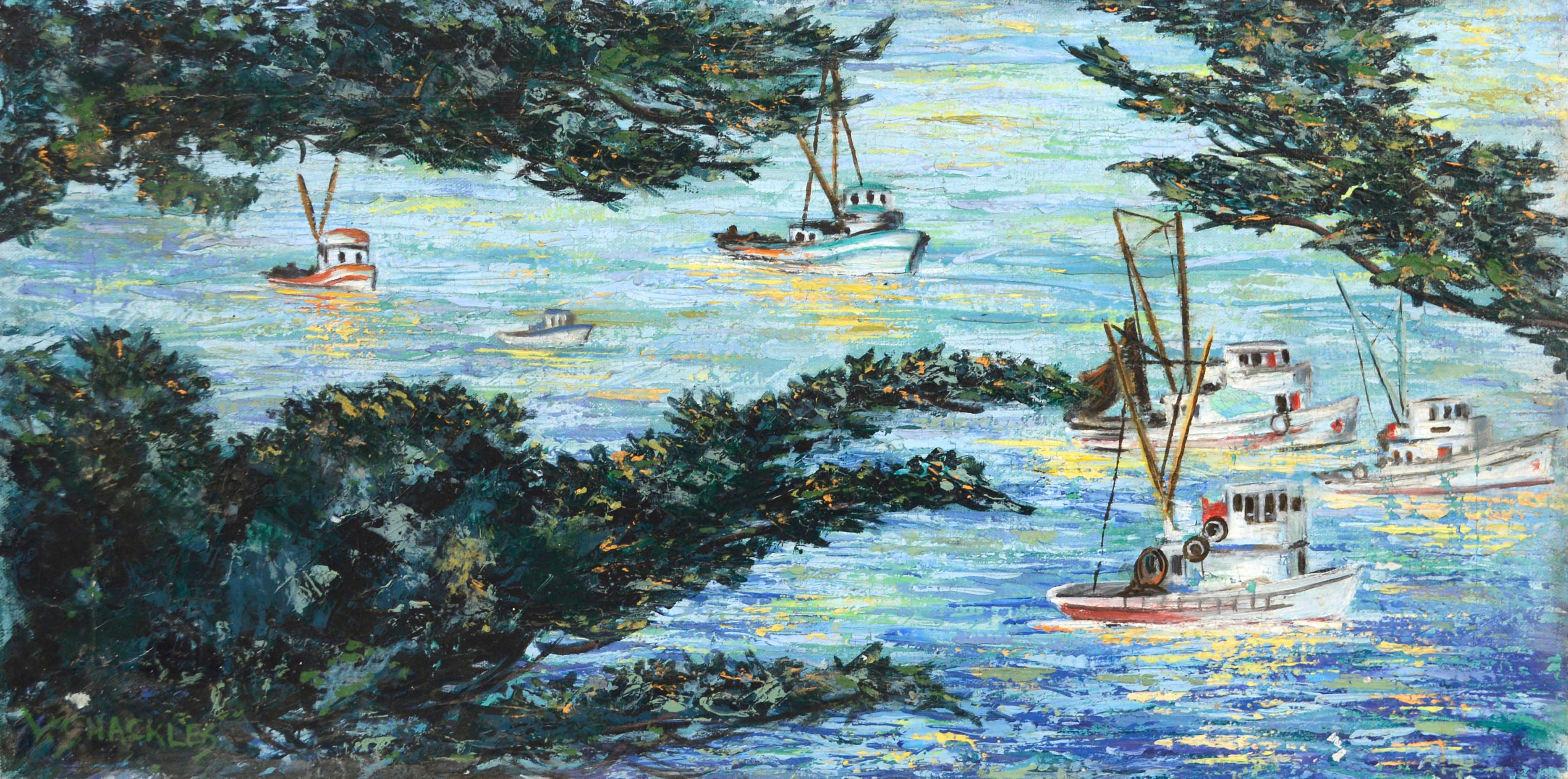 Boats At Sea, Carmel, California