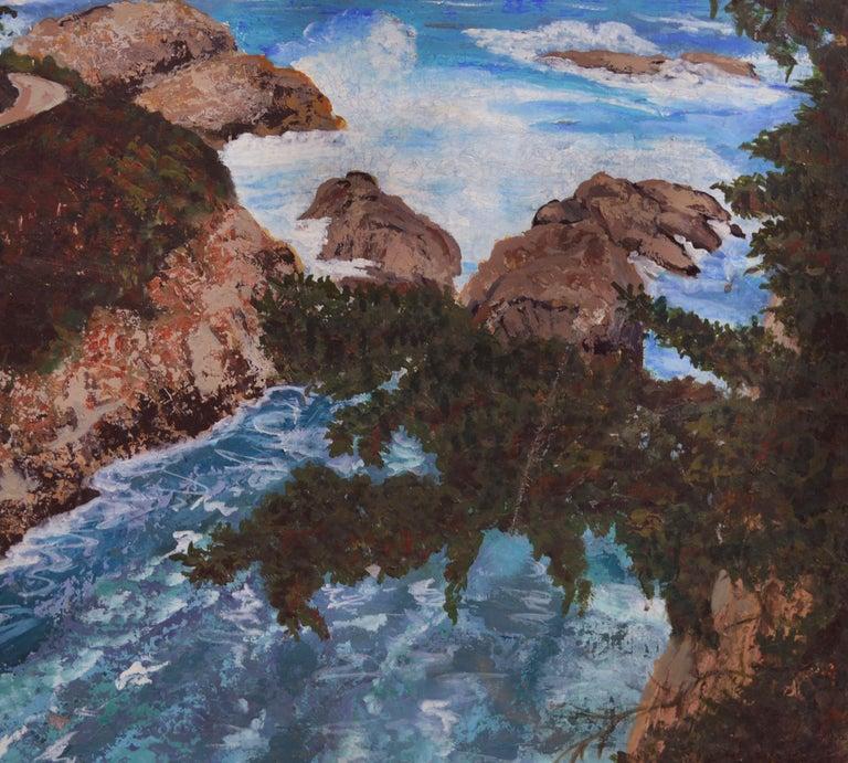 Point Lobos Cove California Coastline - Painting by Virginia Shackles
