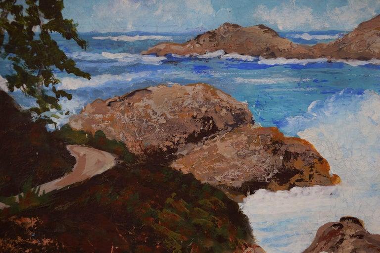 Point Lobos Cove California Coastline - American Impressionist Painting by Virginia Shackles